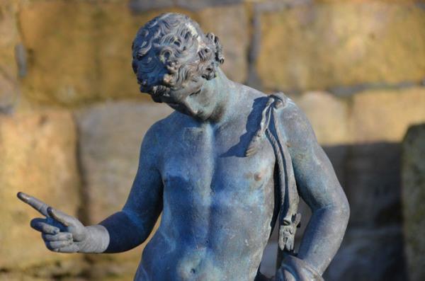 A verdigris bronze model of Dionysus