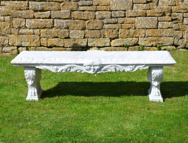A mid 19th century large marble bench