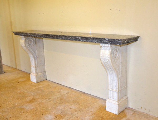 A late 19th century marble console table