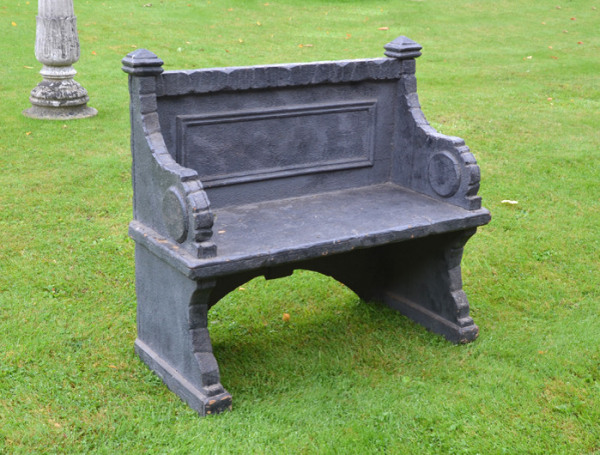 An unusual early 20th century painted pine conservatory bench