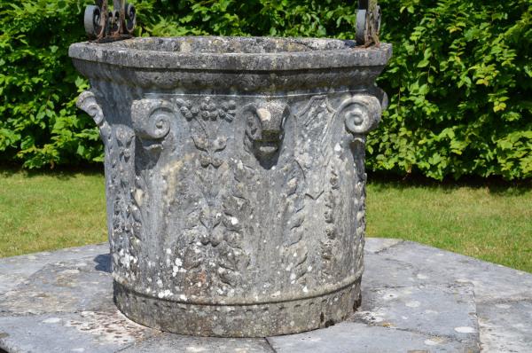 A truly monumental 19th century Italian Istrian marble wellhead