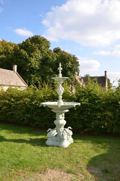 A French 19th century, circa 1860, cast iron fountain