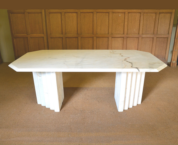 A marble table in the Art Deco style, circa 1930