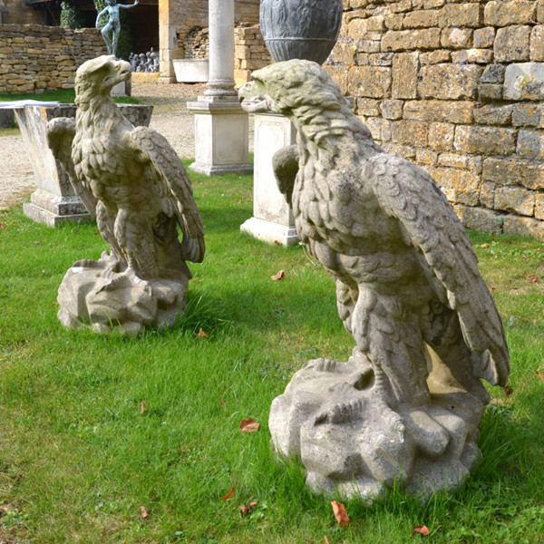 A large pair of 19th century eagles