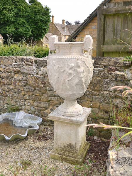 A mid 19th century weathered composition Townley Vase