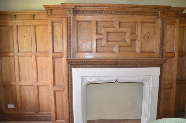 Queen Anne House, Oxshott, Oak Panelled Study