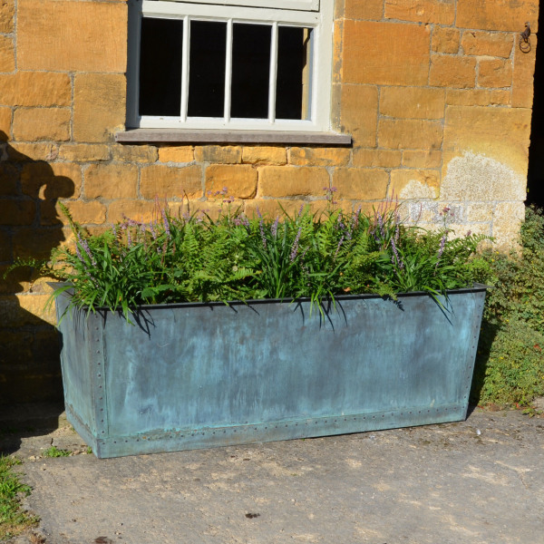 The Rectangular Copper Garden Planter - Medium - Wide