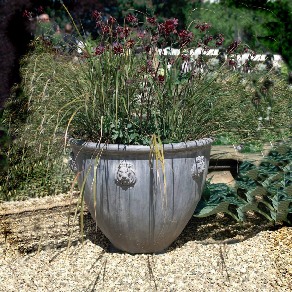 The Cotswold Lion Lead Garden Planter