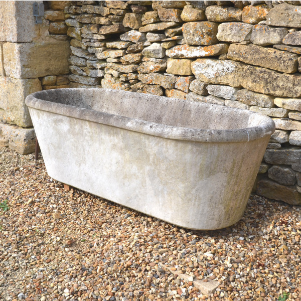 A carved marble bath, French, circa 1900
