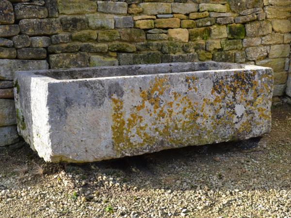 A large antique limestone trough