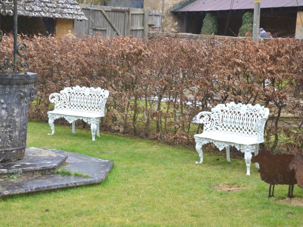 A pair of 19th century cast iron garden seats