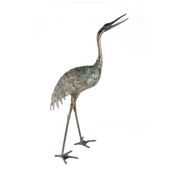 A pair of Japanese Meiji Period (1868 – 1912) bronze cranes