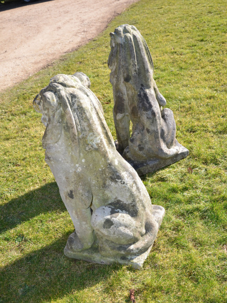 A pair of Portland stone lions