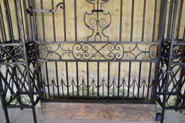 A 19th Century wrought iron garden gate