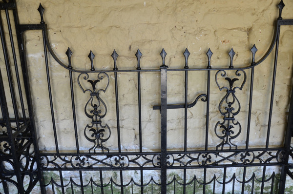 A pair of 19th century wrought iron double garden gates