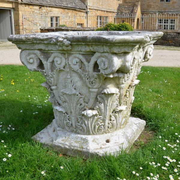 An Italian marble wellhead
