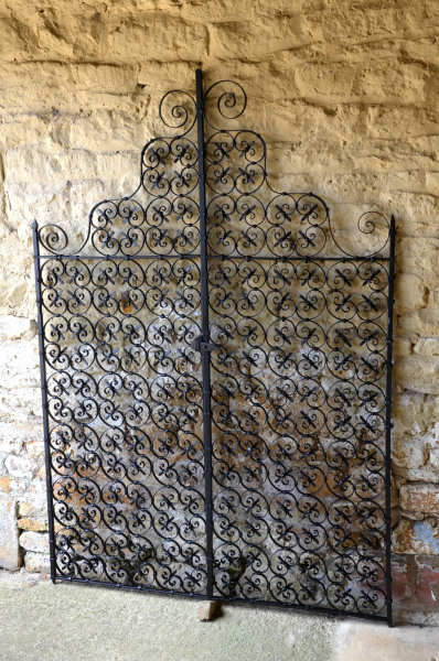 A pair of early 20th century wrought iron garden gates