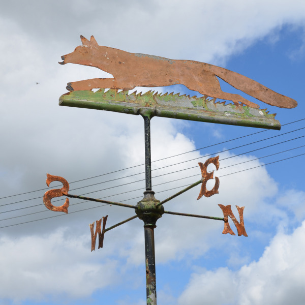'Fantastic Mr Fox' An early 20th century iron and zinc weathervane with large Fox pointer