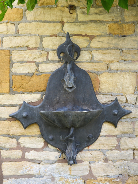 An Arts and Crafts style lead fountain head