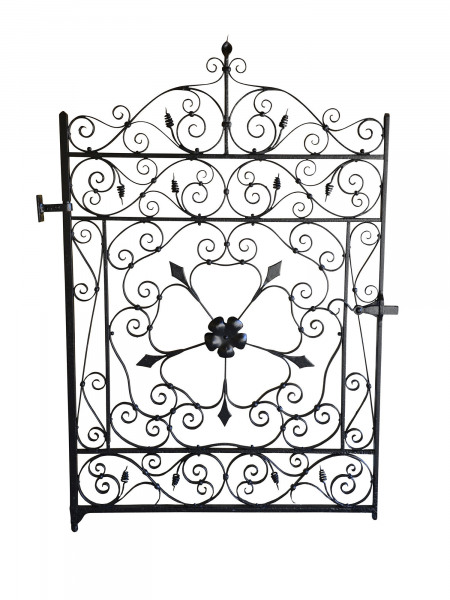 A late 19th century wrought iron garden gate
