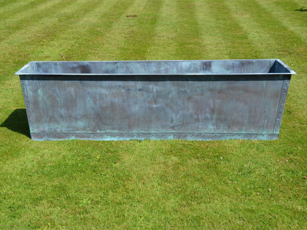 The Rectangular Copper Garden Planter - Large - Narrow