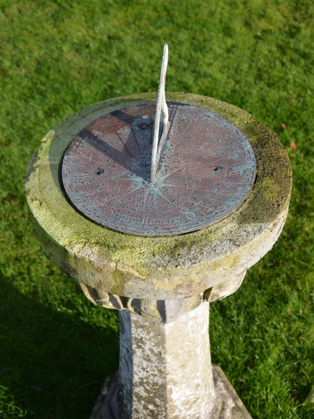 A Portland stone sundial
