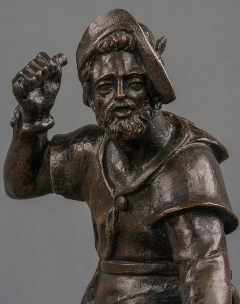 A 17th century German lost wax bronze of 'The Birdcatcher'