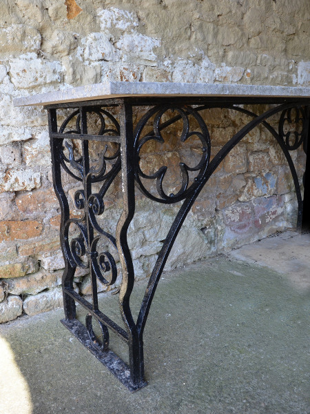 A Gothic wrought iron serving / potting table