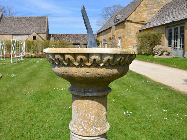 An early 20th century Bath stone sundial pedestal